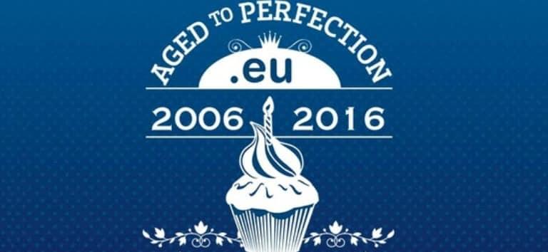Домейн разширението .EU с 10-годишен юбилей и празнична цена