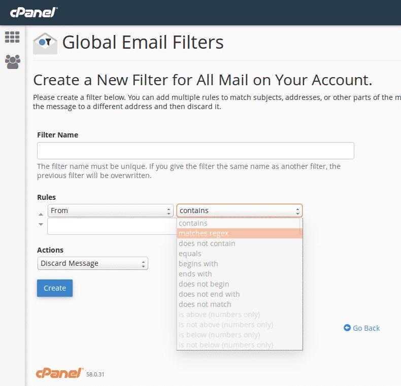 Управление на спам филтри