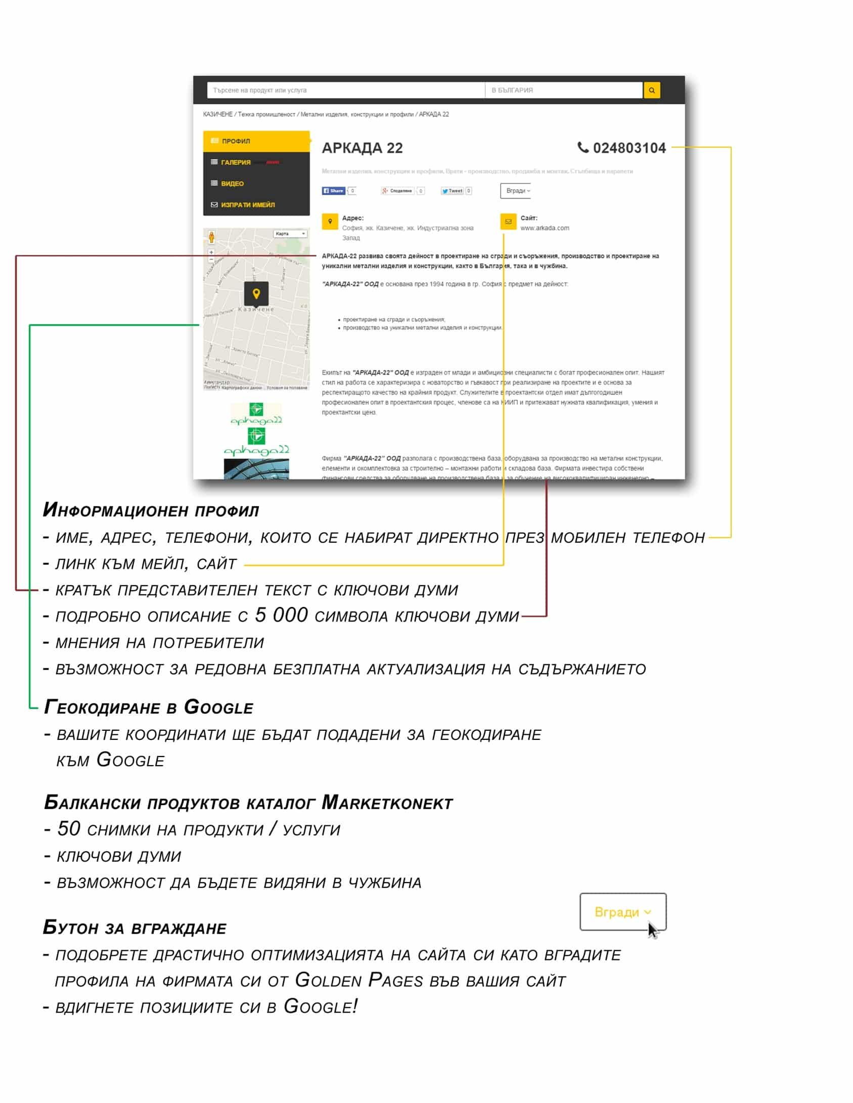 Host.bg и Golden Pages